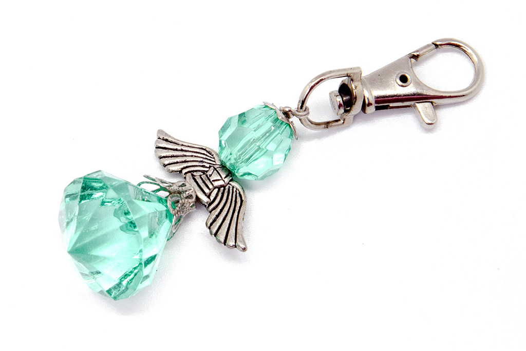 Small Angel Key Ring (Light green)