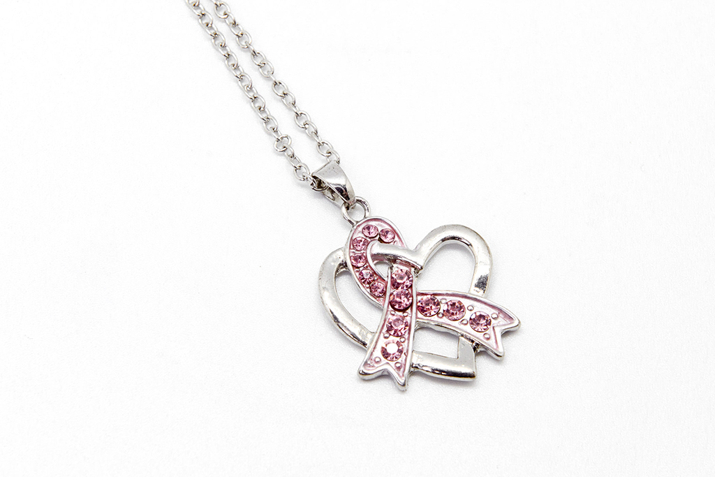 Necklace: Ribbon and Heart Pendant
