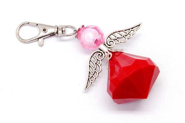Angel Key Ring (Solid Red)