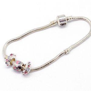Bracelet: 3 silver charms