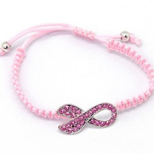 Bracelet: Pink rope with Ribbon