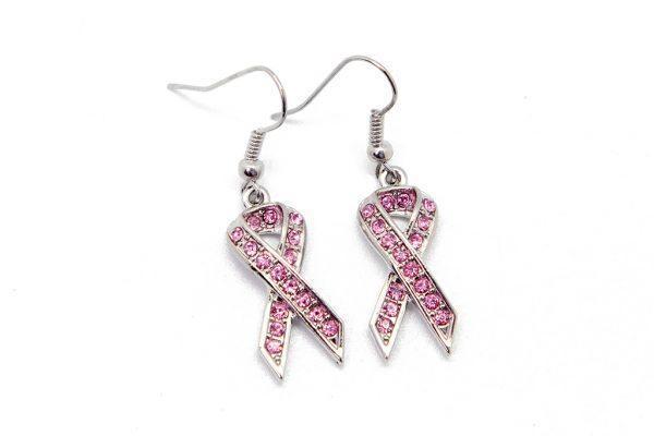 Earrings: Pink Ribbon