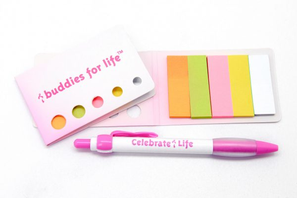 Stationary: Buddies for Life Stickies with Pen