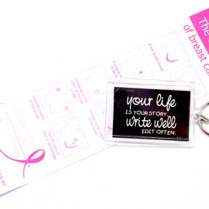 Key Ring: Your life is your story. Write well edit often - black