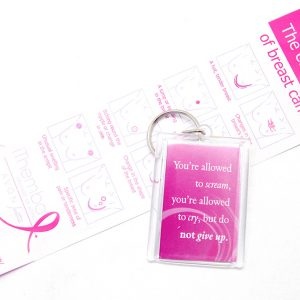 Key Ring: You're allowed to scream, you're alowed to cry, but do not give up.