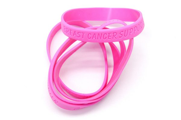 Pink Rubber Band: Breast Cancer Supporter