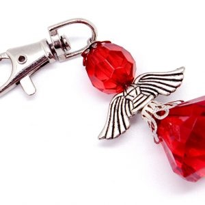 Angel Key Ring (Clear Red)