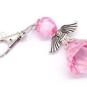 Big Angel Key Ring (Light pink)