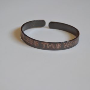Bracelet with message: BLESS THIS WOMAN