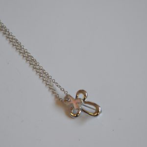 Necklace: Cross and Ribbon Pendant